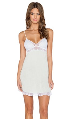 eberjey Paloma Chemise in Beach Glass & White