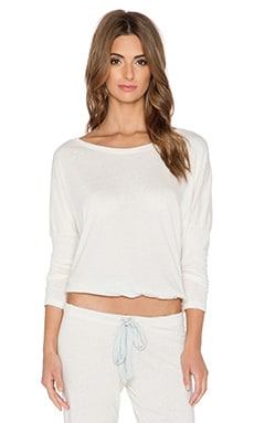 eberjey Heather Slouchy Tee in Milky Way