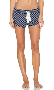 eberjey Dockside Stripe Short in Deep Sea