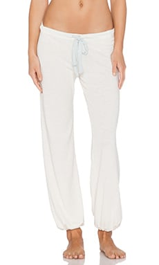 eberjey Heather Crop Pant in Milky Way