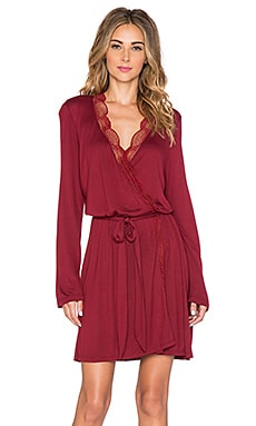 eberjey Estelle Lace Robe in Merlot