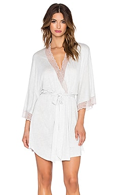 eberjey Georgette Short Robe in Marble & Rose