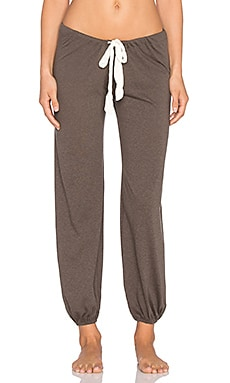 eberjey Heather Cropped Pant in Tapenade