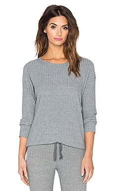Cozy Rib Long Sleeve Tee in Heather Grey
