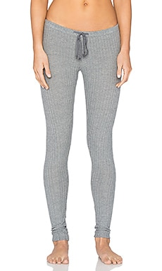 eberjey Cozy Rib Legging in Heather Grey