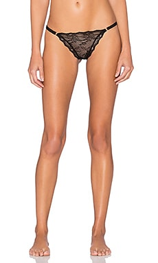 eberjey Georgette String Thong in Black