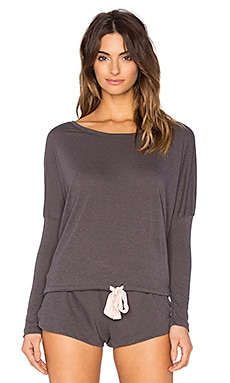eberjey Heather Slouchy Tee in Molasses