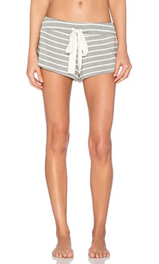 eberjey Lounge Stripes Short in Sage Grey