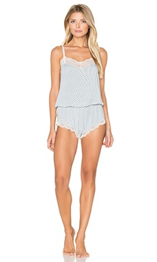 eberjey Cabana Girl Teddy in Chambray