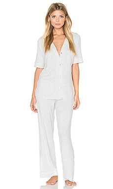 eberjey Gisele PJ Set in Marble Heather