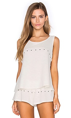Lexie Tank in Peppered Cream