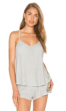 eberjey Bailey T Back Cami in Marble Grey