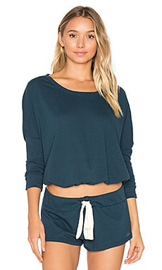 Heather Slouchy Tee en Petrol