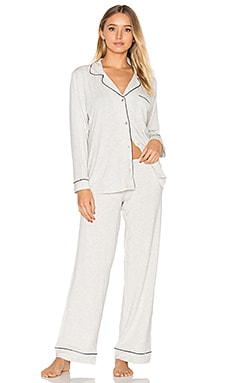 Gisle PJ Set in Melange Grey
