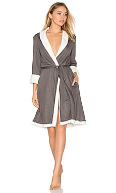 Alpine Chic Classic Robe in Graphite