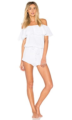 Lucia Off Shoulder Teddy en Blanco