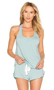 Heather Racerback Tank in Washed Denim