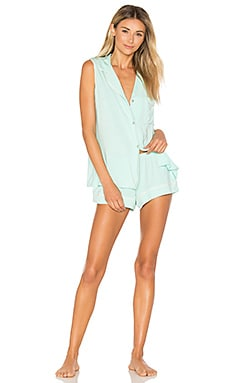 Gisele Pj Set in Peppermint & Bellini