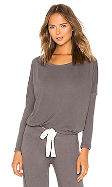 Slouchy Heather Tee eberjey $69 BEST SELLER