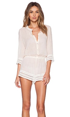 eberjey Love Shack Pia Romper in Shell