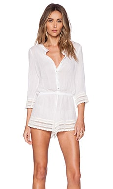 eberjey Love Shack Pia Romper in White