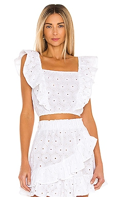 TOP CROPPED CLAUDINE eberjey $98 NOUVEAU