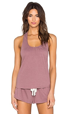 eberjey Heather Shelf Bra Racerback Tank in Woodrose
