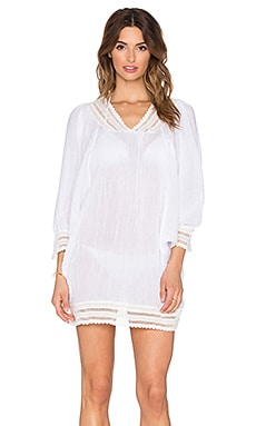 eberjey Love Shack Zephyr Cover Up in White
