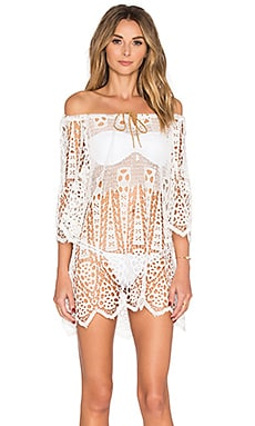 eberjey Spearhead Gianna Cover Up in Off White