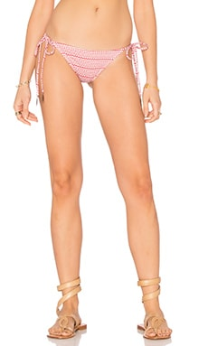 eberjey Cherokee Heart Eva Bikini Bottom in Canyon Rose