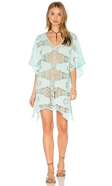 Spirit Dancer Brielle Cover Up en Vert Aqua