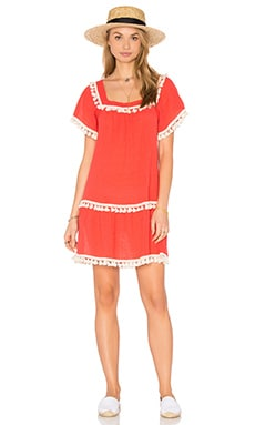 eberjey Sea Breeze Zia Cover Up in Watermelon Crush