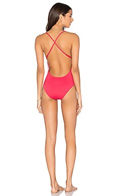 So Solid Nadine One Piece in Hibiscus