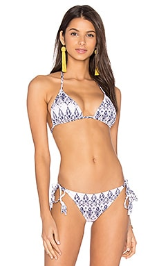 Rumba Gisele Bikini Top in Pale Pink & Deep Blue
