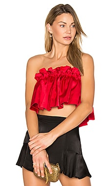 Elasticated Top en Rouge