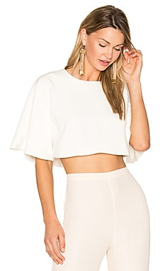 Flute Sleeve Top in White