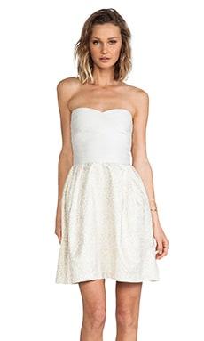 ERIN erin fetherston Elizabeth Dress in White & Silver Multi