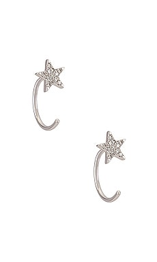 СЕРЬГИ STAR LOOP EF COLLECTION $375