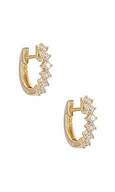 Sloane Diamond Mini Huggie Earrings EF COLLECTION $825 NEW