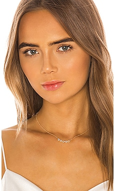 5 White Diamond Open Circle Choker Necklace EF COLLECTION $795