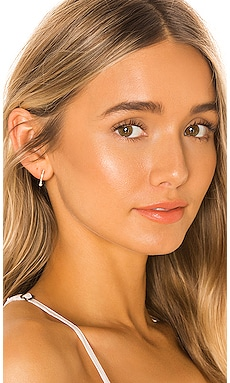 14k Diamond & Pearl Mini Huggie Earring EF COLLECTION $525 NEW ARRIVAL