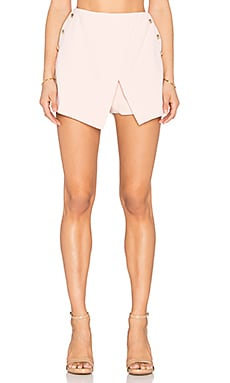 Button Skort in Light Pink