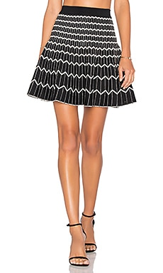 Zig Zag Reversible Skirt in Black & Off White