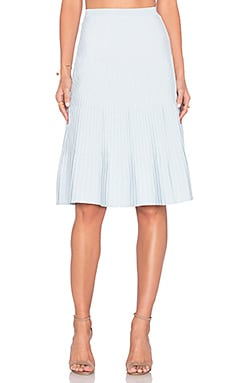 EGREY Ribbed Midi Skirt in Baby Blue