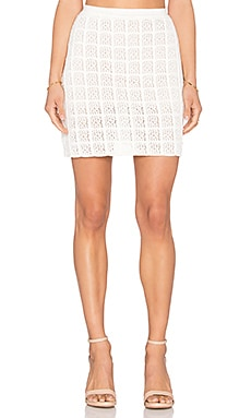 Square Skirt in Off White