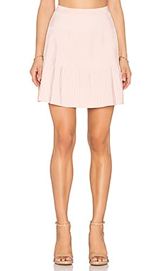 Ribbed Mini Skirt en Rose Léger