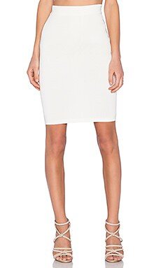 EGREY Tricot Zipper Skirt in Off White