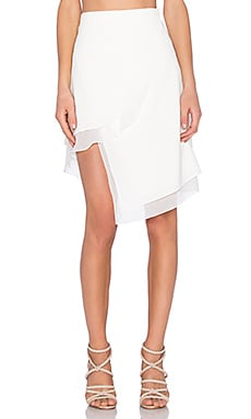 EGREY Long Point Skirt in Off White