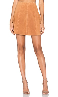 Braid Mini Skirt in Whiskey