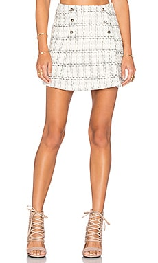 Tweed Skirt in Off White